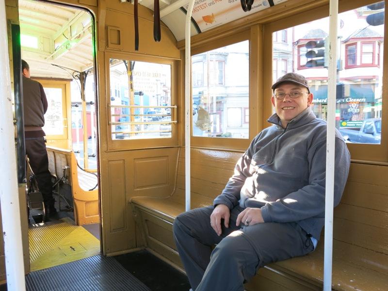 Fahrgast mit Platz