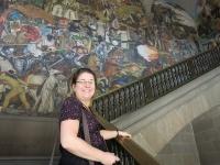 Wandmalerei im Palacio Nacional