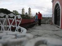 Auf einem Dach von Valladolid