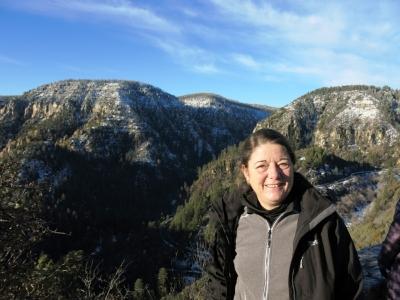 Blick auf Oak Creek Canyon