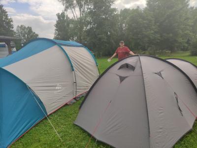 Zelte stehen