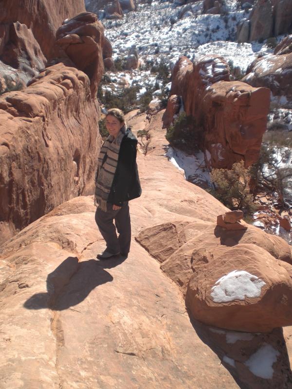 eisfreie Felsen auf dem Trail