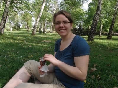 Eis im Park