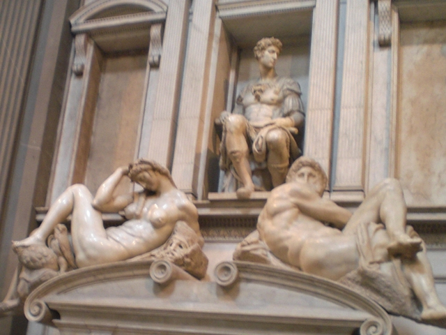 Medici Kapelle, Michelangelo-Werke