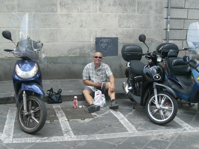 Parkplatz-Pause