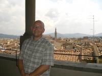 Olli über den Dächern Florenz'