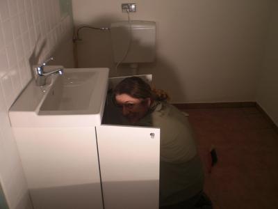 Waschbecken gibt es auch