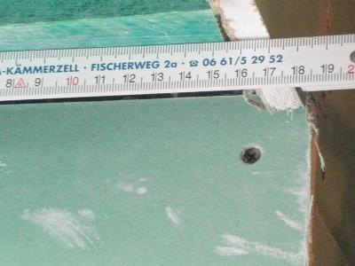 Letztes Maß: 17 cm