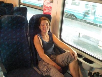 Im Zug nach Lucca
