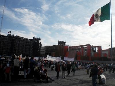 Demo auf dem Zocalo
