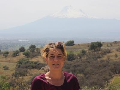 Anne und der Popocatepetl