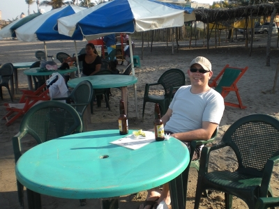 Erstes Bier in Tecolutla