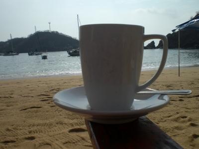 Kaffee am Strand