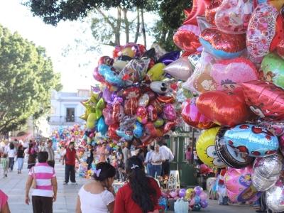 Luftballons am Zocalo