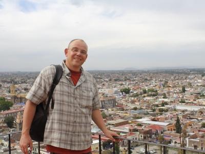 Sicht auf Cholula von der Pyramide