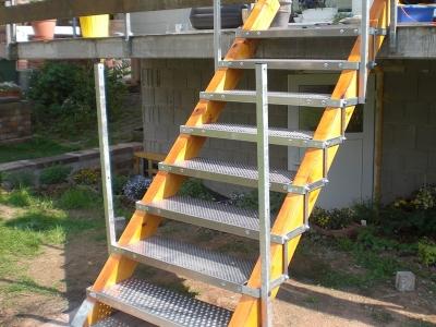 Treppe von vorne