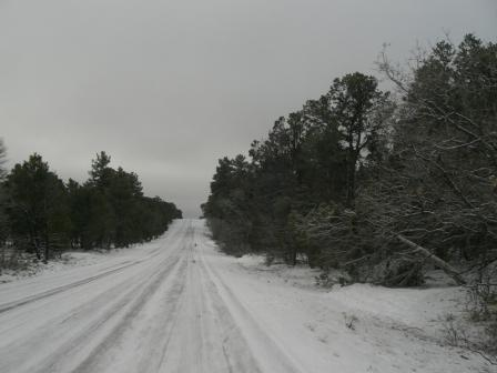 Schnee am East Rim