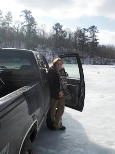 Fahrt auf dem Eis