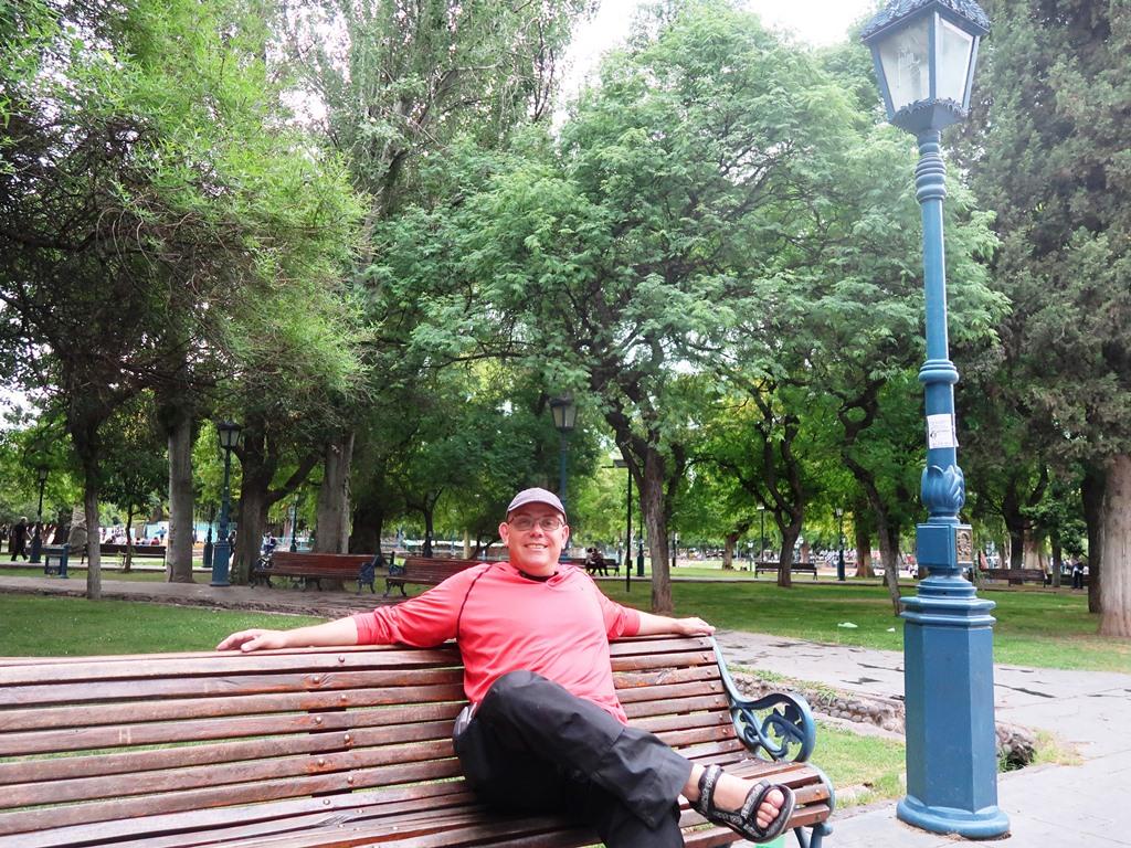 Parkbank in Mendoza